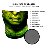 Green Rage  Face Mask * Now with Sewn Edges* - Fast Mask