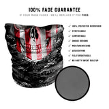 Red & White Skull  Face Mask - Fast Mask