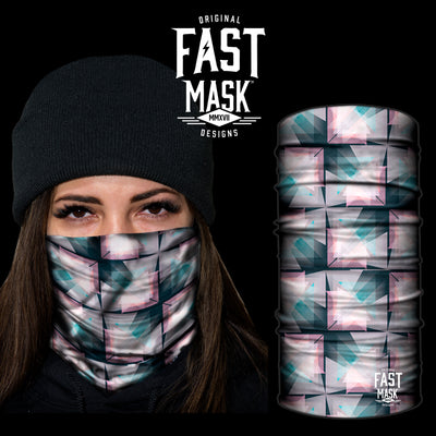 Kaleidoscope Fleece Face Mask - Fast Mask