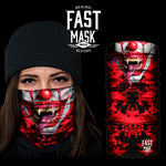 Killer Clown Fleece Face Mask - Fast Mask