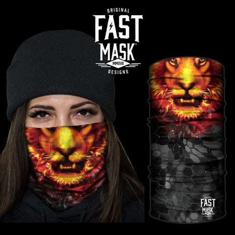 Fiery Lion Face Mask - Fast Mask