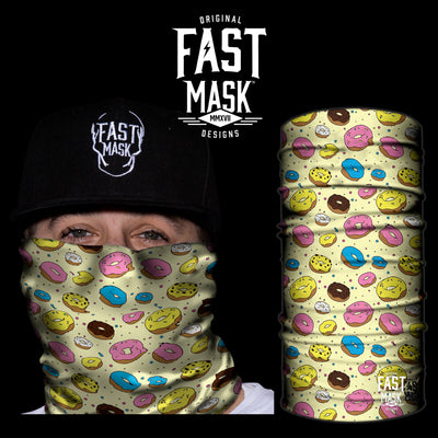 MMMM Donuts Fleece Face Mask - Fast Mask