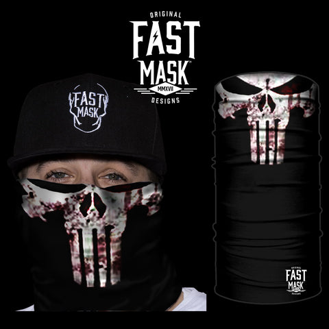 White Punisher Face Mask * Now With Sewn Edges * - Fast Mask
