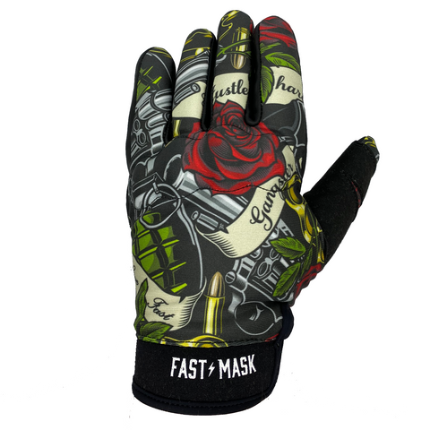 GUNS & ROSES MOTORCYCLE GLOVES