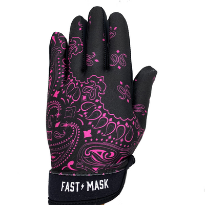 New Black Pink Paisley  Motocross & Bike Gloves - Fast Mask
