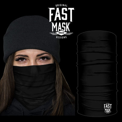Plain Black Fastmask *Now with Sewn Edges* - Fast Mask