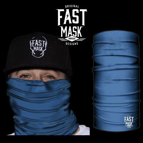 Plain Blue Fast Mask Face Mask - *Now - with Sewn Edges* - Fast Mask