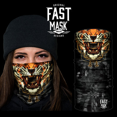 Roaring Tiger Fleece Face Mask - Fast Mask