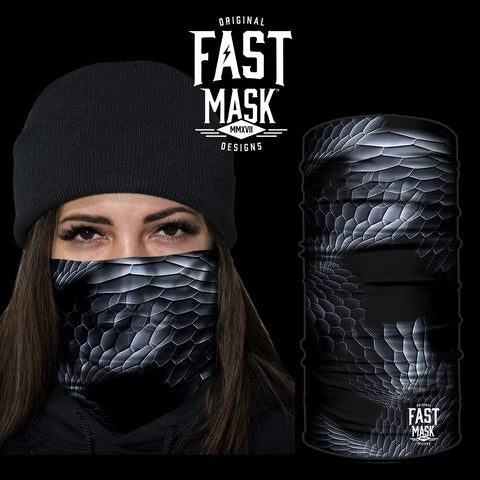 Black Serpent Skin Face Mask * Now With Sewn Edges* - Fast Mask