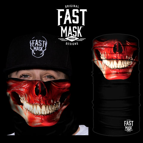 Skinless Skull Fleece Face Mask - Fast Mask