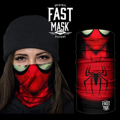 Web Slinger Spider Face Mask * Now With Sewn Edges* - Fast Mask