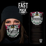 Sugar Skull Fleece Face Mask - Fast Mask