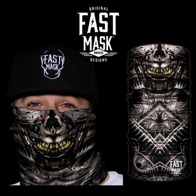 Cyborg Skull Fleece Face Mask - Fast Mask