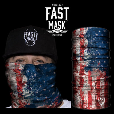 USA Hand Paint Face Mask - *Now With Sewn Edges* - Fast Mask