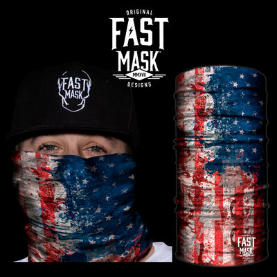 USA Hand Paint Fleece Face Mask - Fast Mask