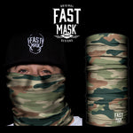 Woodland Camo Fleece Face Mask - Fast Mask