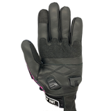 New - Black & Pink Paisley  Motorcycle Gloves - Fast Mask