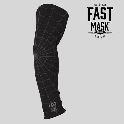Black Spider Webs Arm Sleeve - Fast Mask