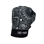 Black Paisley Fast Mask Motocross & Bike Gloves