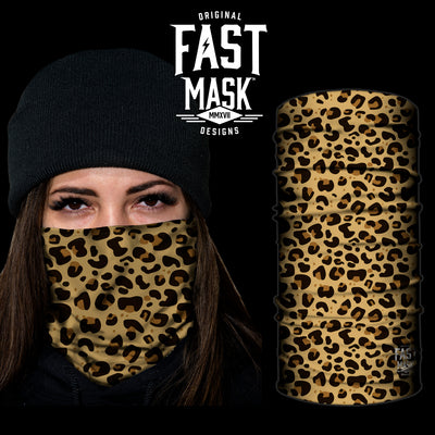 Jaguar Print Fast Mask- *Now with Sewn Edges* - Fast Mask