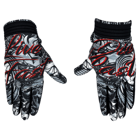 Live Fast Die Last Cholo Motocross & Bike Gloves