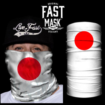 Japan Flag Fast Mask - *Now with Sewn Edges* - Fast Mask