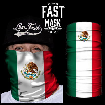 Mexico Flag Fast Mask - *Now with Sewn Edges* - Fast Mask