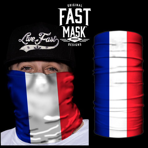 France Flag Fast Mask - *Now with Sewn Edges* - Fast Mask
