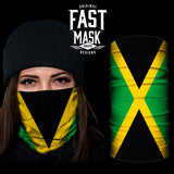 Jamaica Flag Fast Mask - *Now with Sewn Edges* - Fast Mask