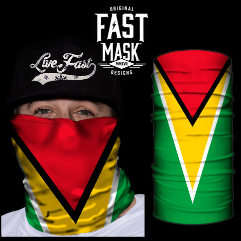 Guyana Flag Fast Mask - *Now with Sewn Edges* - Fast Mask