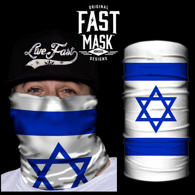 Israel Flag Fast Mask - *Now with Sewn Edges* - Fast Mask