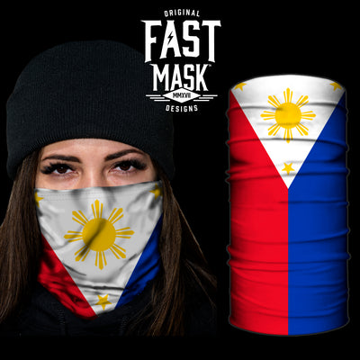 Philipines Flag Fast Mask - *Now with Sewn Edges* - Fast Mask
