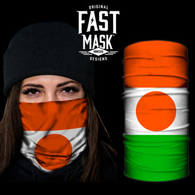 Niger Flag Fast Mask - *Now with Sewn Edges* - Fast Mask