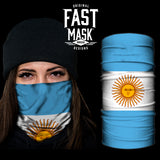 Argentina  Flag Fast Mask- *Now with Sewn Edges* - Fast Mask