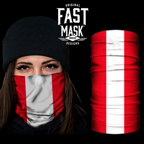 Peru Flag Fast Mask - *Now with Sewn Edges* - Fast Mask