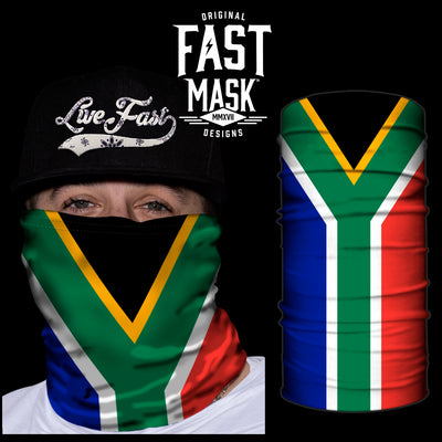 South Africa  Flag Fast Mask - *Now with Sewn Edges* - Fast Mask