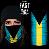 Bahamas Flag Fast Mask - *Now with Sewn Edges* - Fast Mask