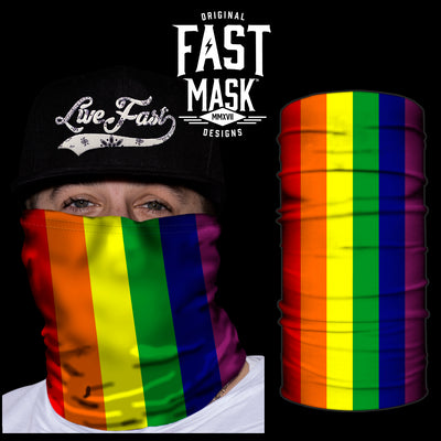 Pride Flag Fast Mask - *Now with Sewn Edges* - Fast Mask