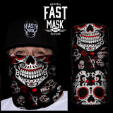 Red Sugar Skull Fast Mask - Fast Mask