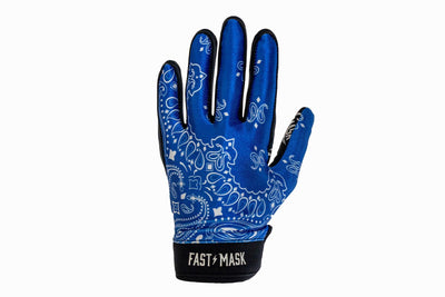 Blue Paisley Fast Mask Motocross & Bike Gloves - Fast Mask