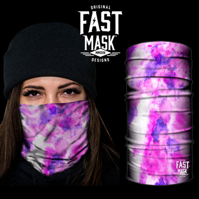 Tye Dye Purple Face Wrap fleece - Fast Mask