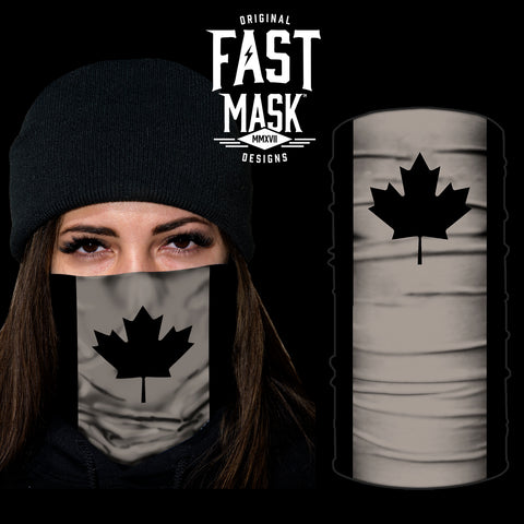 Blacked out Canada Flag Fleece - Fast Mask