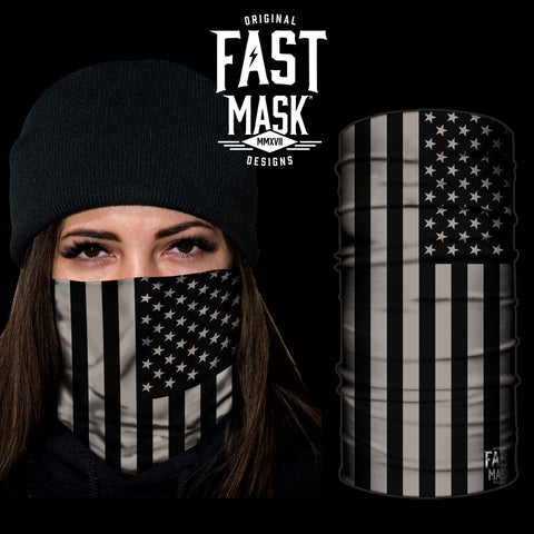 Blacked Out USA Flag Fast Mask