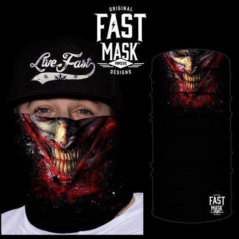 Bloody Joker Smile Fast Mask * Now With Sewn Edges* - Fast Mask