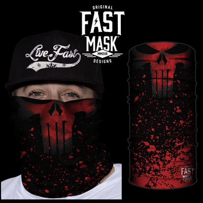 Crimson Punisher  Fleece Face Mask - Fast Mask