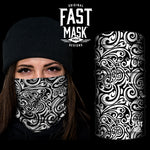 Paisley White Face mask - Fast Mask