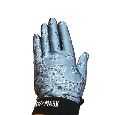 Grey Paisley Fast Mask MX Gloves - Fast Mask