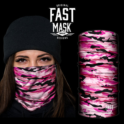 Pink Camo Fast Mask - *Now - with Sewn Edges* - Fast Mask