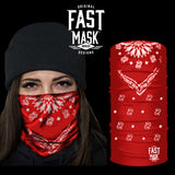 Red Bandana Fleece Face Mask - Fast Mask