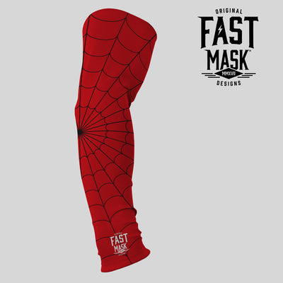 Red Spider Web Arm Sleeve - Fast Mask
